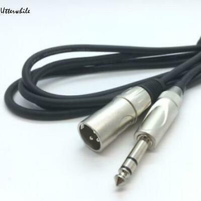 Male XLR to 6.35mm Jack Lead Speaker Audio Balanced Patch Cable U8HE