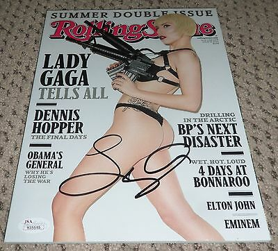 Lady Gaga Signed Rolling Stone Magazine Jsa Auth Autograph Loa Full Letter