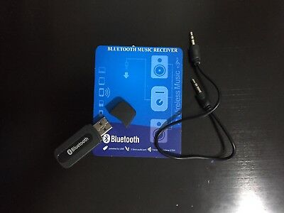 Bluetooth Wireless Stereo Audio Music Receiver 3.5mm Handsfree Car AUX USB
