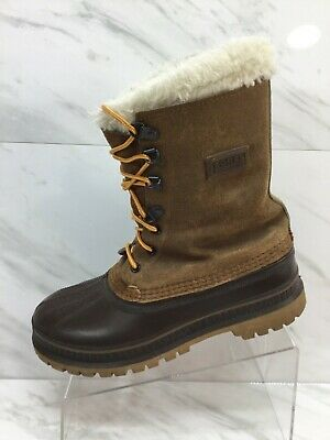 1de10c4f61a SOREL CARIBOU MENS Fleece Lined Winter Snow Boots Mens Size 7 Womens ...