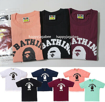 S-3XL 2019 S//S A BATHING APE Men/'s POCKET HOOP L//S TEE 4colors From Japan New
