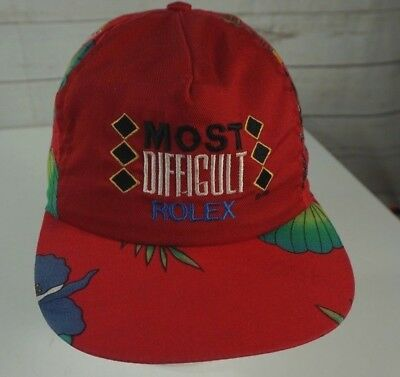 ee79c198594 Rare Vintage MOST DIFFICULT Rolex Cap Hat Fresh Prince Tropical Red