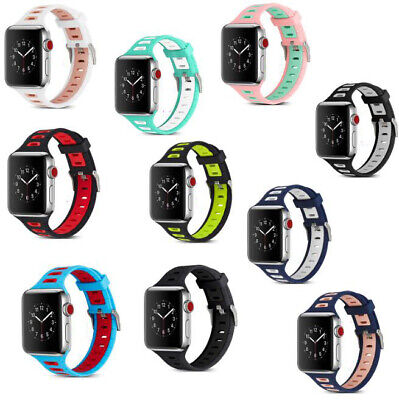 38/42mm Silicone Bracelet Band Strap For Apple Watch iWatch Sport Series 1/2/3/4