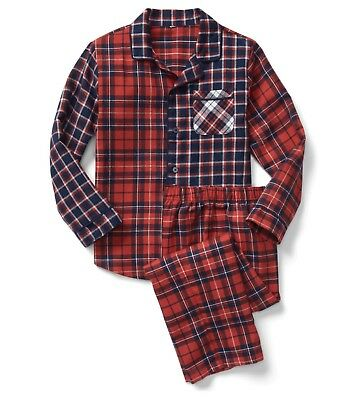 Gap Kids Boy's Flannel Classic PJ Set Modern Red Size 14