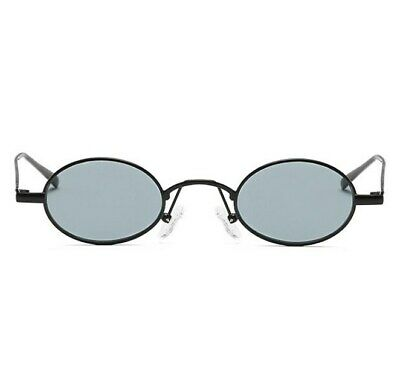 Trending Sexy Small Oval Sunglasses Steampunk Shades Fashion Metal Frame Glasses