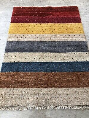 Tapis Moderne Laine Noué Main 200x140cm Gabbeh Ino Teppich Rugs Tappeto Alfombra