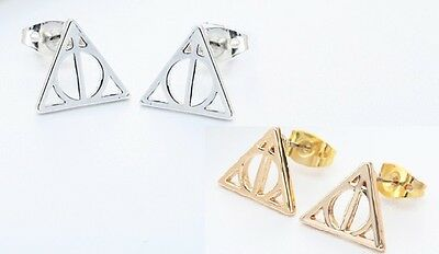 a99628c46 DEATHLY HALLOWS HARRY Potter Movie 925 Sterling Silver Stud Earring ...