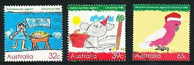 Australian 1988 Christmas, set of 3, used