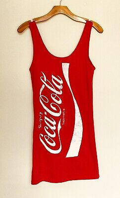 bbde1044ff0 Coke Coca-Cola Tunic Tank Dress Womens Large Pre-Owned