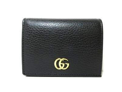 199345a7a4e AUTH GUCCI GG Marmont 409392 Black Leather Long Wallet -  459.00 ...