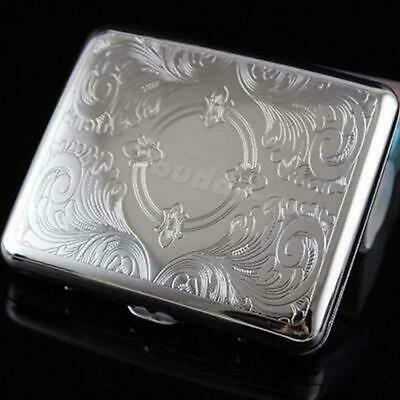 Pocket Metal Cigar Cigarette Case Aluminum Tobacco Storage Container Box Holder
