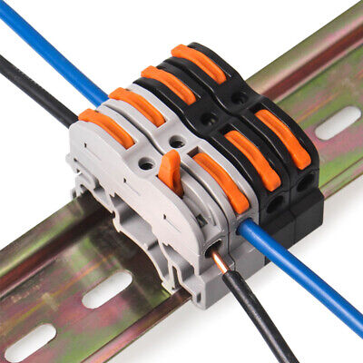 5pcs 1Pin Din Rail Universal compact cable wiring connector terminal block