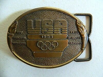 VINTAGE 1984 UNITED STATES OLYMPIC COMMITTEE BELT BUCKLE Made in USA 80's