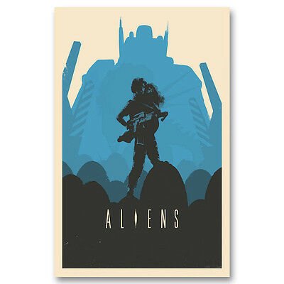Alien Canvas Classic Movie Posters Art Prints 8x12 12x18 inches