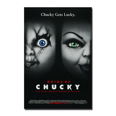 BRIDE OF CHUCKY (1998) Horror Movie Canvas Poster 12x18 32x48''