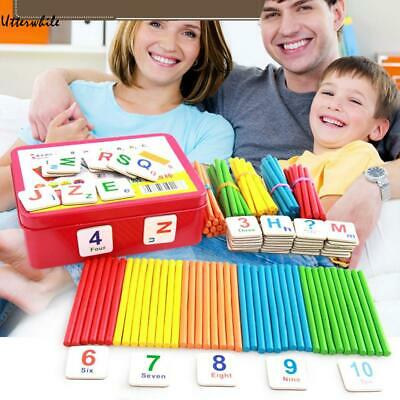 Children Wooden Counting Sticks Math Learning Developmental Arithmetic U8HE 01