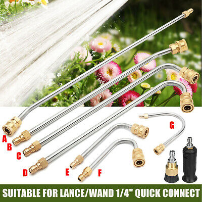 High Pressure Washer Gutter Cleaner Rod/Nozzle For Lance/Wand 1/4''Quick Connect