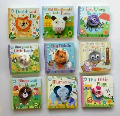 New Gift Set Parragon Little Learner Collection of 6 Finger Puppet Books Ages 2