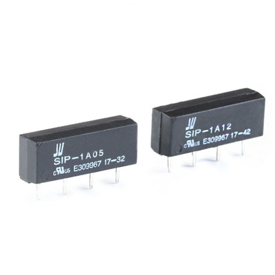 DC 5V 12V Reed Switch Relay PCB Relay 4 Pin 1 Form A SIP-1A05 SIP-1A12 Black