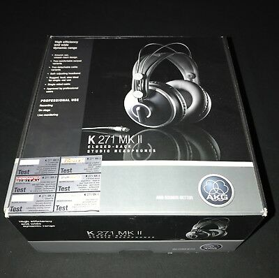 AKG K271 MKII Closed Back Studio Headphones - As New Condition