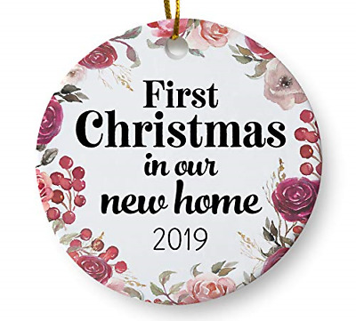 """First Christmas in Our New Home 2019 Christmas Ornament, Housewarming Gift, 3"""""""