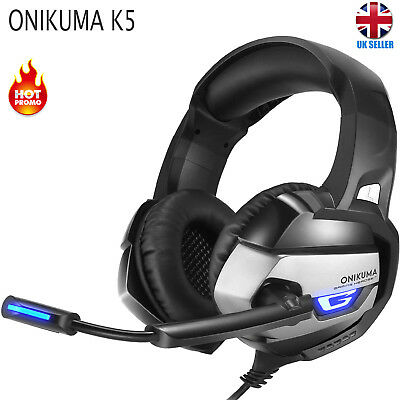 ONIKUMA K5 LED Gaming Headset Headphones W/ Mic Over Ear For PS4 PC Xbox One TOP