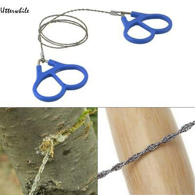 1 Piece Stainless Steel Wire Saw Bushcraft Hunting Camping Survival Tool U8HE 01