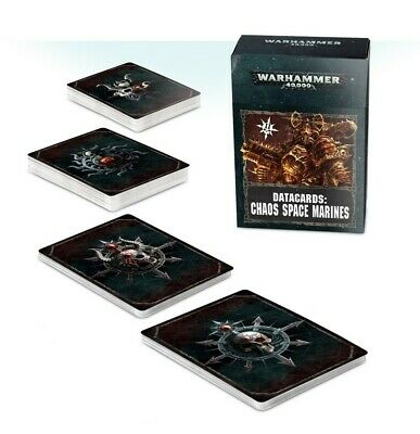 Datacards: Chaos Space Marines - English Games Workshop Brand New 60220102007