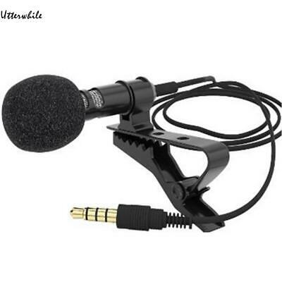 Mini Clip-on Lapel Microphone Hands-free 3.5mm Condenser Wired U8HE 01