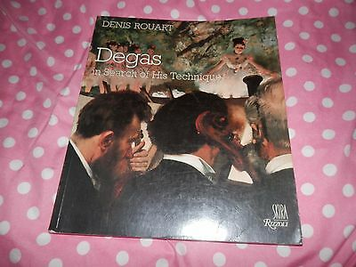 Denis Rouart Degas In Search of his Technique Rizzoli 1989 Edgar