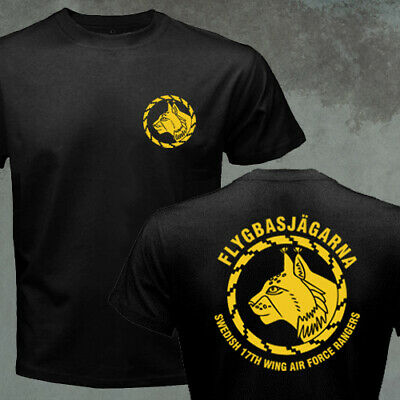 Swedish Army Flygbasjägarna 17th Wing Air Force Rangers Special Forces T-shirt