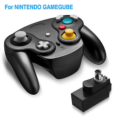 Wireless Gamecube Controller Joypad With Adapter for Nintendo Classic Wii GC NGC