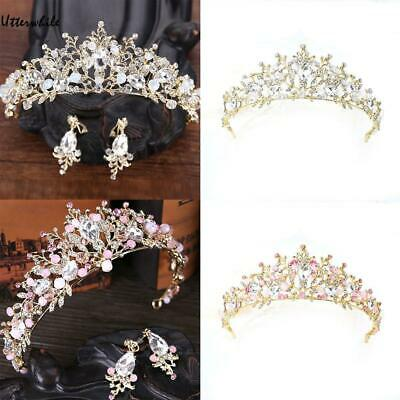 New Women Crystal Anadem Wedding Decoration Accessories Gift U8HE 01