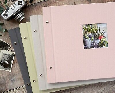 High Quality Linen Cover Screw Bound Photograph Album. 20 pages / 40 sides.