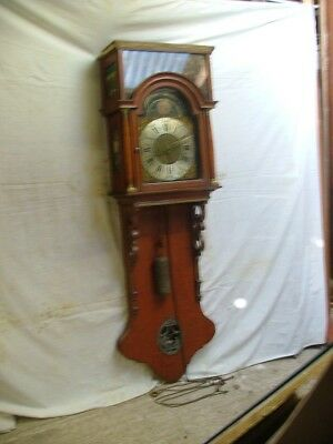 FRIESLAND DUTCH WALL CLOCK. RARE ANTIQUE c1790