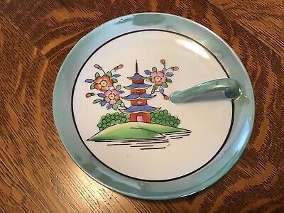 Vintage~ TT Takito~Hand Painted~Japan~Lusterware~Dish With Handle~1920-1930