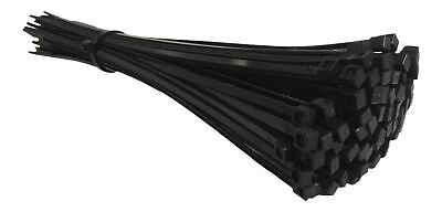 200 BLACK CABLE TIES 250mm X 4.8mm - UK Manufactured - DISCOUNTED