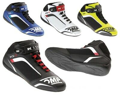 OMP KS-2 Kart Karting Racing Driving Boots Leather / Microfibre  IC/812 - ADULT