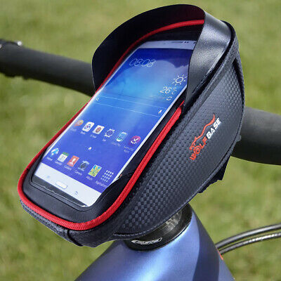 Cycling Bike Front Bag Waterproof Bicycle Portable Phone Holder Pannier Pouch