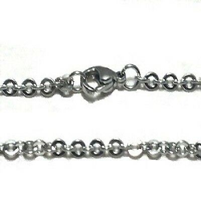 Stainless Steel 20 Inch 2mm oval  Link Neck Chain Necklace