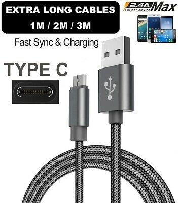 For Huawei P20 / Lite / Pro/Mate 20 Type C USB-C Sync Braided Charger Cable Lead