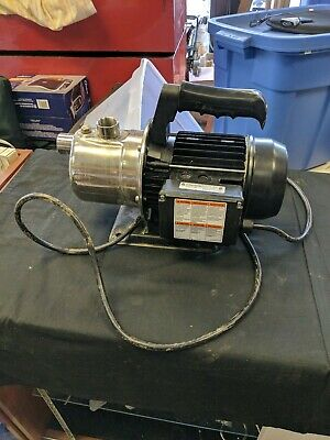 CountyLine Stainless Steel Transfer Utility Pump 1HP 115 volt 9.8 amp CLSS5