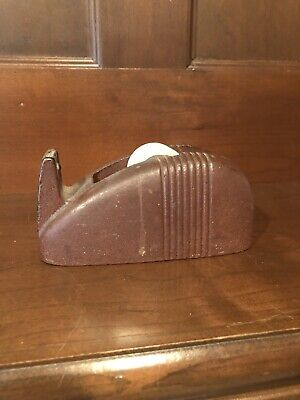 Vintage-Antique-Art Deco 3M Scotch Whale Tail Cast Iron Desk Tape Dispenser