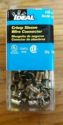 IDEAL 30-410 Steel Crimp Sleeve Wire Connectors Package of 100
