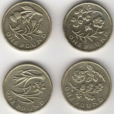 2013/2014 UK Floral £1 One Pound Coin Set | British Coins | Pennies2Pounds