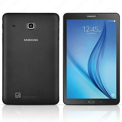 "Samsung T-Mobile Galaxy Tab E SM-T377T Android Tablet 8"" 16GB Wi-Fi + LTE Black"