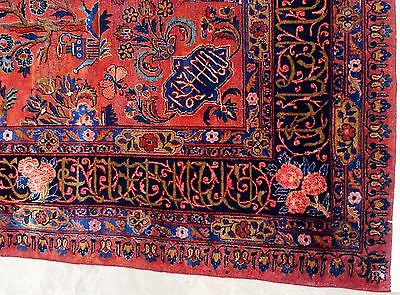 Exclusive Signed  Real Antique Persian Manchester Keshan Rug