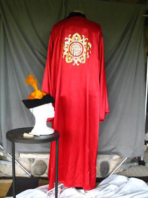 Sorcerer Robe Magician Alchemist Asian Emperor Noble Red