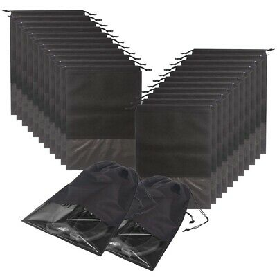 1X(24Pcs Travel Shoe Bags Waterproof Non-Woven With Rope For Men And Women G7R8)