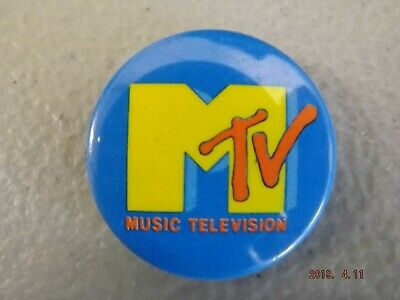 Music Television Rock 80/'s 90/'s Party Costume Prop MTV Logo Badges /& Magnets